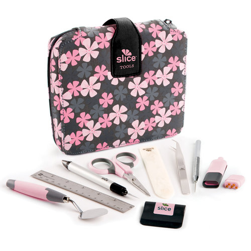 Making Memories - Slice Tool Kit with Case - Pink