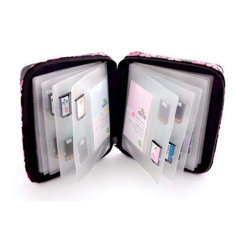 Making Memories - Slice Design Card Storage Case - Pink