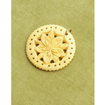 Making Memories - Vintage Groove Collection - Jewelry Pendant - Carved Wood Flower