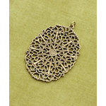 Making Memories - Vintage Groove Collection - Jewelry Pendant - Filigree Oval