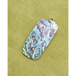 Making Memories - Vintage Groove Collection - Jewelry Pendant - Abalone Rectangle