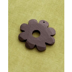 Making Memories - Vintage Groove Collection - Jewelry Pendant - Wood Flower