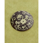 Making Memories - Vintage Groove Collection - Jewelry Pendant - Engraved Floral
