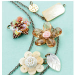 Making Memories - Vintage Groove Collection - Jewelry Kit - Resin and Woven Flowers