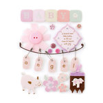 Making Memories - Pitter Patter Collection - Design Shop - 3 Dimensional Stickers with Jewel Accents - Sophie Tags, CLEARANCE