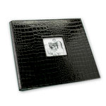 Making Memories - 12 x 12 Leather Alligator Album - Postbound - Black