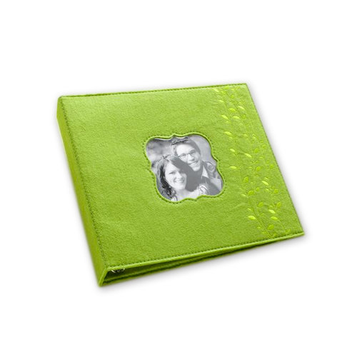 Making Memories - 8 x 8 Stitched Vine Felt Album - 3-Ring - Green