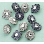 Making Memories - Glitter Deco Brads with Gems - Antique Silver, CLEARANCE