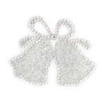 Making Memories - Glitter Bling Collection - Self Adhesive Icon - Wedding Bells