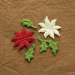 Making Memories - Noel Collection - Christmas - Felt Poinsettia Blossoms, CLEARANCE
