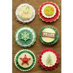 Making Memories - Noel Collection - Christmas - Rosette Stickers