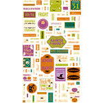 Making Memories - Toil and Trouble Collection - Halloween - Stickers - Word Fetti, CLEARANCE