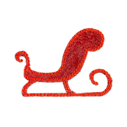 Making Memories - Glitter Bling Collection - Self Adhesive Icon - Sleigh