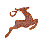Making Memories - Glitter Bling Collection - Self Adhesive Icon - Leaping Reindeer