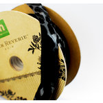 Making Memories - Paper Reverie Collection - Animal Print Ribbon Spool - Noir - 25 Yards