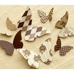 Making Memories - Paper Reverie Collection - Cardstock Pieces - Butterflies - Brun Antique
