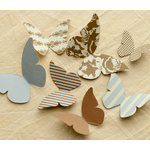 Making Memories - Paper Reverie Collection - Cardstock Pieces - Butterflies - Metallique
