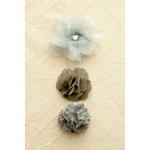 Making Memories - Paper Reverie Collection - Fabric Flowers - Florets - Metallique