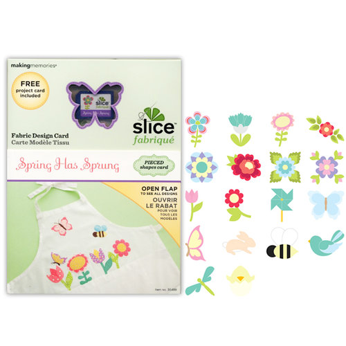 Making Memories - Fabrique Collection - Slice Design Card - Spring has Sprung