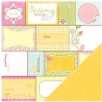 Making Memories - Dilly Dally Collection - 12 x 12 Paper - Perforated Word Block