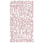 Making Memories - Dilly Dally Collection - Shimmer Alphabet Stickers