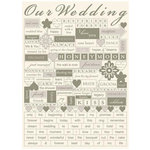 Making Memories - Tie the Knot Collection - Stickers - Word Fetti