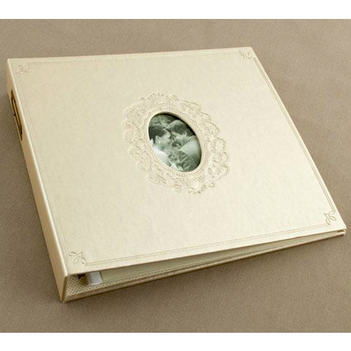 Making Memories - Tie the Knot Collection - 12 x 12 Embossed Leather Album - 3-Ring
