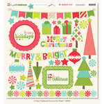 My Mind's Eye - 12 Days of Christmas Collection - 12 x 12 Chipboard Stickers - Elements