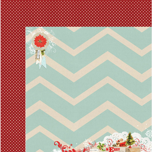 My Mind's Eye - All Is Bright Collection - Christmas - 12 x 12 Double Sided Paper - Merry