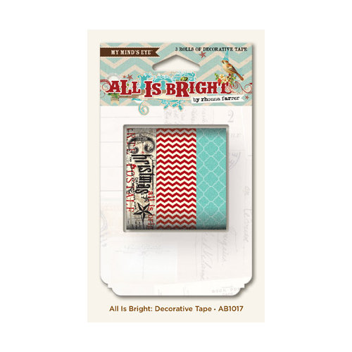 My Mind's Eye - All Is Bright Collection - Christmas - Decorative Tape