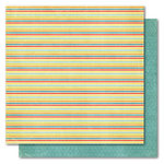 My Mind's Eye - Alphabet Soup Collection - 12 x 12 Double Sided Paper - Super Stripes Boy, CLEARANCE