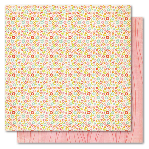 My Mind's Eye - Alphabet Soup Collection - 12 x 12 Double Sided Paper - Flower Patch Girl, CLEARANCE