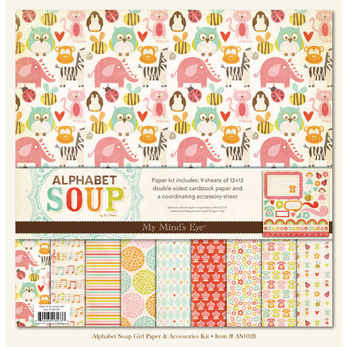 My Mind's Eye - Alphabet Soup Collection - Paper Kit - Girl, CLEARANCE