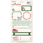 My Mind's Eye - Cozy Christmas Collection - Cardstock Stickers - Labels