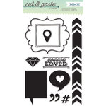 My Mind's Eye - Cut and Paste Collection - Adorbs - Clear Acrylic Stamps - Loved