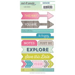 My Mind's Eye - Cut and Paste Collection - Adorbs - Be - Cardstock Stickers - Label - Be