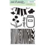 My Mind's Eye - Cut and Paste Collection - Charm - Clear Acrylic Stamps - Hey You