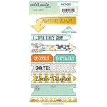 My Mind's Eye - Cut and Paste Collection - Charm - Cardstock Stickers - Label - Carefree