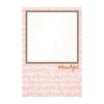My Mind's Eye - Cut and Paste Collection - Presh - 4 x 6 Journal Card - Beautiful
