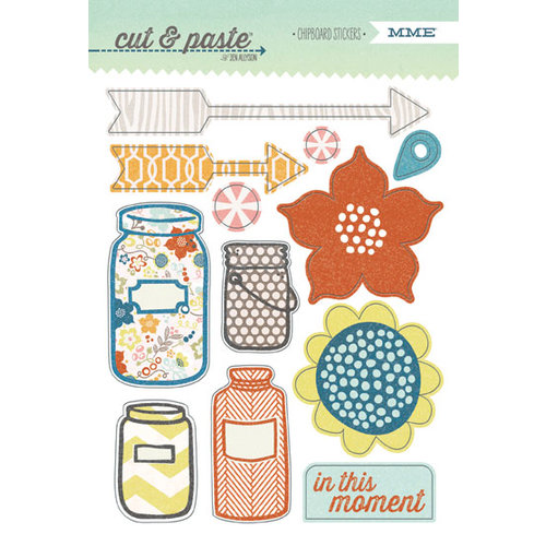 My Mind's Eye - Cut and Paste Collection - Presh - Chipboard Stickers - Right Now