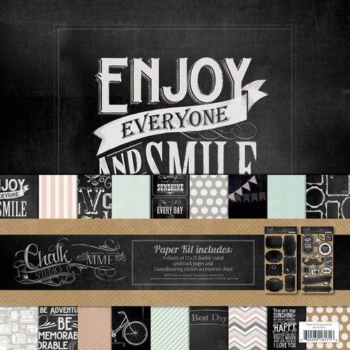 My Mind's Eye - Chalk Studio Collection - 12 x 12 Paper Kit