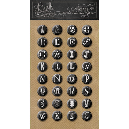 My Mind's Eye - Chalk Studio Collection - Decorative Alphabet Stickers