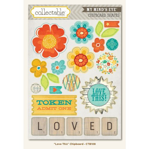 My Mind's Eye - Collectable Collection - Notable - Chipboard Stickers - Love This