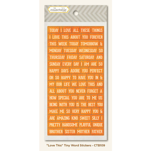 Collectable Collection - Notable - Cardstock Stickers - Tiny Word - Love This by My Mind's Eye