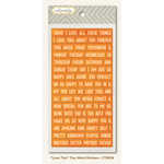 My Mind's Eye - Collectable Collection - Notable - Cardstock Stickers - Tiny Word - Love This