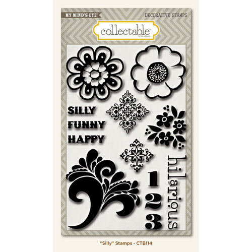My Mind's Eye - Collectable Collection - Notable - Clear Acrylic Stamps - Silly