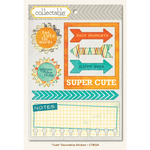 Collectable Collection - Notable - Cardstock Stickers - Cute  by My Mind's Eye