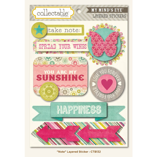 Collectable Collection - Memorable - 3 Dimensional Stickers - Note by My Mind's Eye