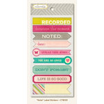 My Mind's Eye - Collectable Collection - Memorable - Cardstock Stickers - Note Label