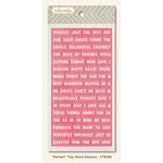 My Mind's Eye - Collectable Collection - Memorable - Cardstock Stickers - Tiny Word - Perfect